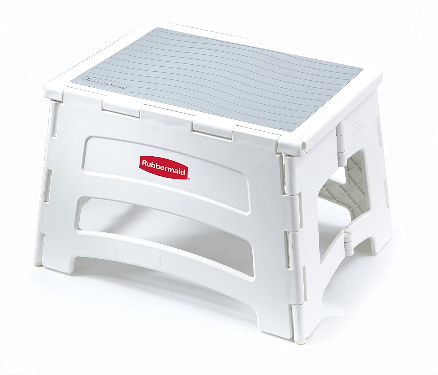 Rubbermaid RM-PL1W Folding 1-Step Plastic Stool Tricam Industries