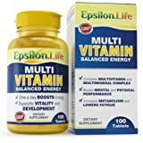 Epsilon Multivitamin and Mineral Complex - 100 Tablets - Balanced Formula To Boost Energy And Vitality - 100% Money Back Guarantee