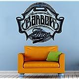 barber shop emblem wall vinyl decal housewares barbershop logo art modern interior decor sticker mural