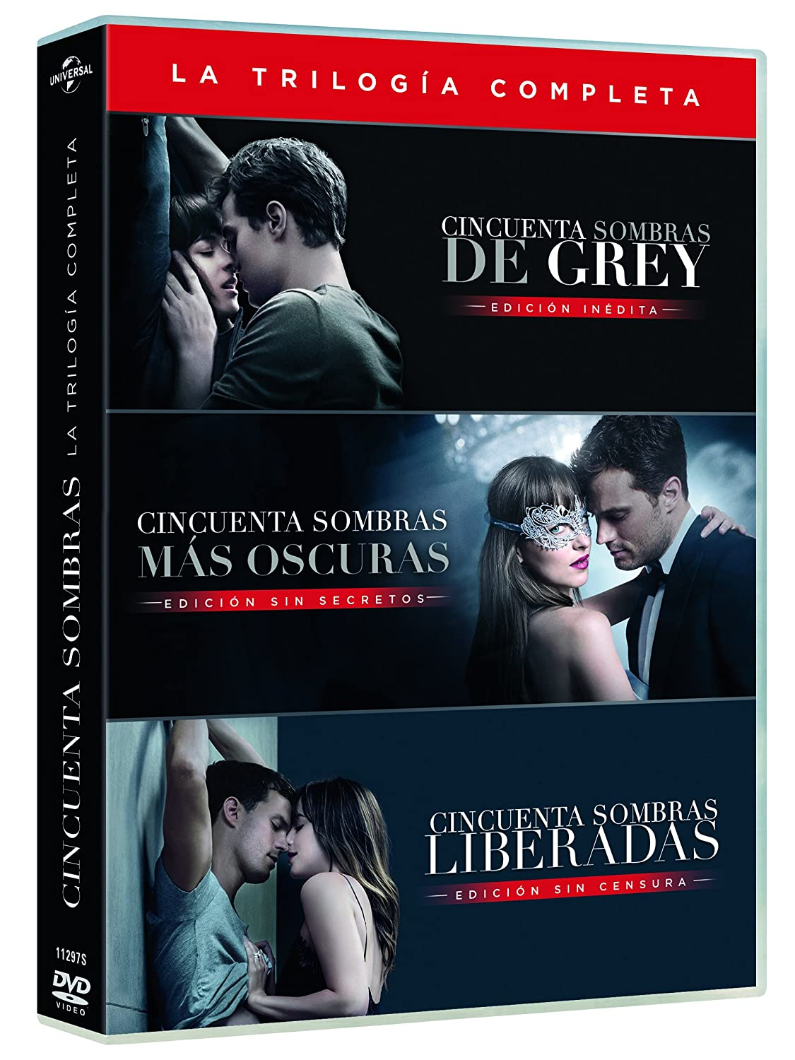 Cincuenta Sombras De Grey - Películas 1-3 [DVD]: Amazon.es: Dakota ...