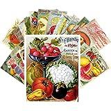 Carte Postale 24pcs Veges and Fruits Vintage Seed Pockets Gardens