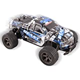 Cheetah King Remote Control RC Buggy Truggy Truck Car 2.4 GHz System 1:18 Scale Size RTR w/ Working Suspension, High Speed, Radio Control Off-Road Hobby Truggy Rechargeable (Blue)