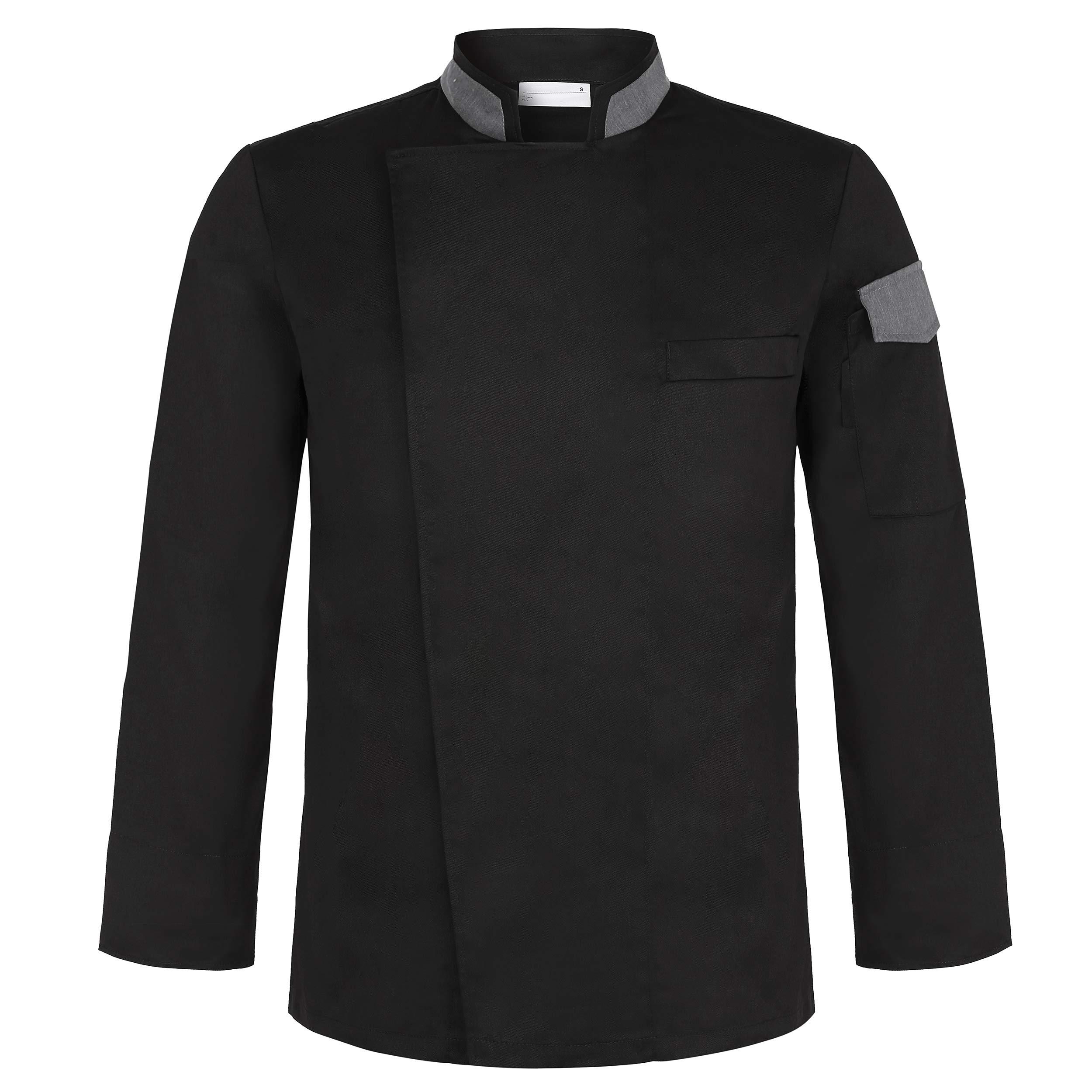 Cheflife Men's Stylish Unisex Chef Uniforms Long Sleeve Coat Jacket by Cheflife