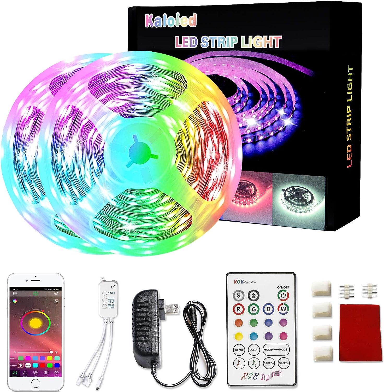 Bluetooth APP LED Strip Lights 5050 RGB Backlight Color Change w// Music 1-5M