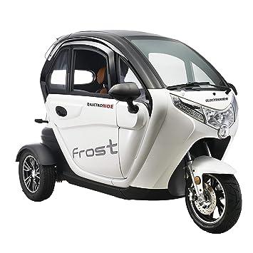 Lunex Scooter Electrico Adulto 3 Ruedas Movilidad Reducida Coche eléctrico Ciclomotor 45km/h Blanco: Amazon.es: Deportes y aire libre