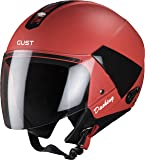 Steelbird SB-33 7Wings Gust Dashing Open Face Helmet (Large 600 MM, Red with Plain Visor)