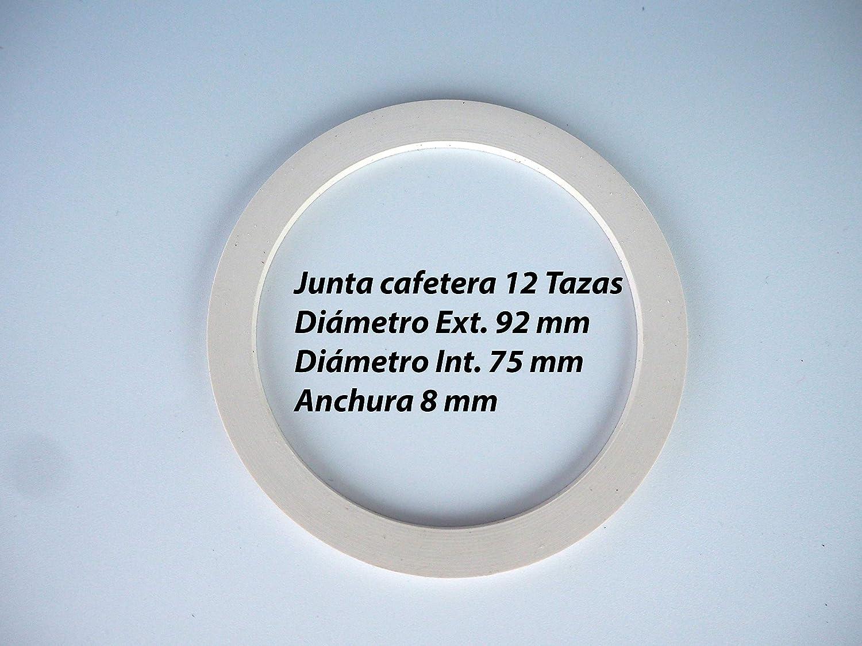 Sanfor Repuesto Cafetera Italiana 12 Tazas | Recambio Embudo + Filtro + Junta | Aluminio Caucho | Diámetro 82 mm: Amazon.es: Hogar