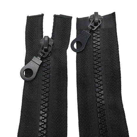 Reißverschluß breit kunststoff schwarz Mäntel Winterjacke Jacke teilbar 8mm
