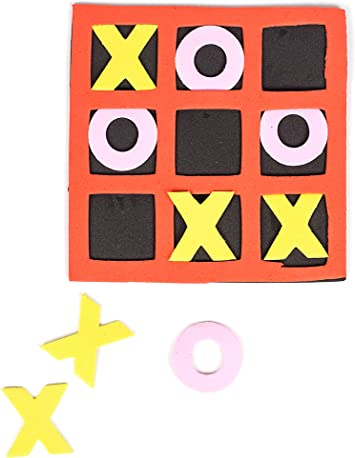 24 Pack 4Es Novelty 5 x 5 Kids Foam Tic Tac Toe Easter Party Supplies 4E/'s Novelty Birthday Party Favor Bulk