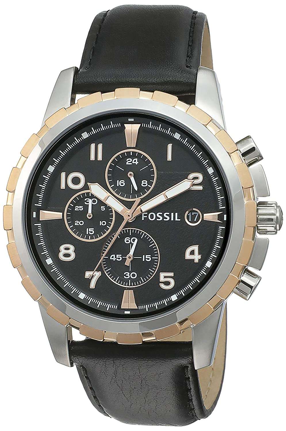 Fossil Chronograph Black Dial Best Mens Watches Under 5000 in India to buy in 2019 - Reviews & Buyers Guide