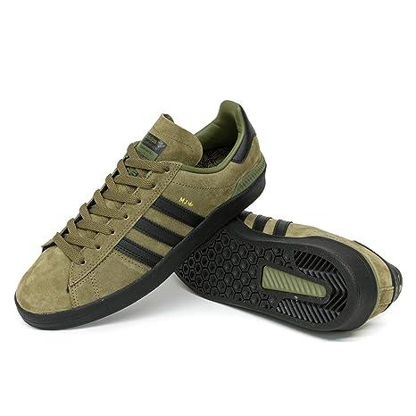 quality design d7c17 b5932 adidas Skateboarding Campus ADV, Olive Cargo-Core Black-Gold Metallic, 10