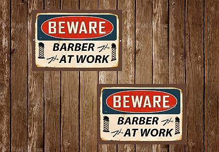 Cartel de Metal con Diseño de Barber Shop, Estilo Vintage ...