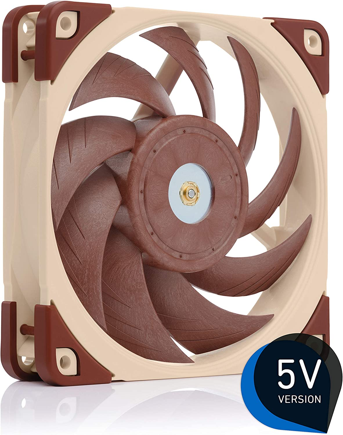Noctua NF-A12x25 5V, Premium Quiet Fan with USB Power Adaptor Cable, 3-Pin, 5V Version (120mm, Brown)