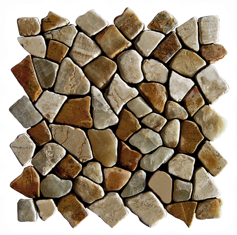 Wand Boden Naturstein Fliesen Bruchstein Marmor Mosaik M-016 Mosaikfliesen