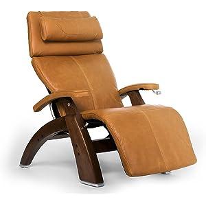 Human Touch Perfect Chair PC-420 Classic Plus Premium Full Grain Leather Zero Gravity Recliner, Sycamore