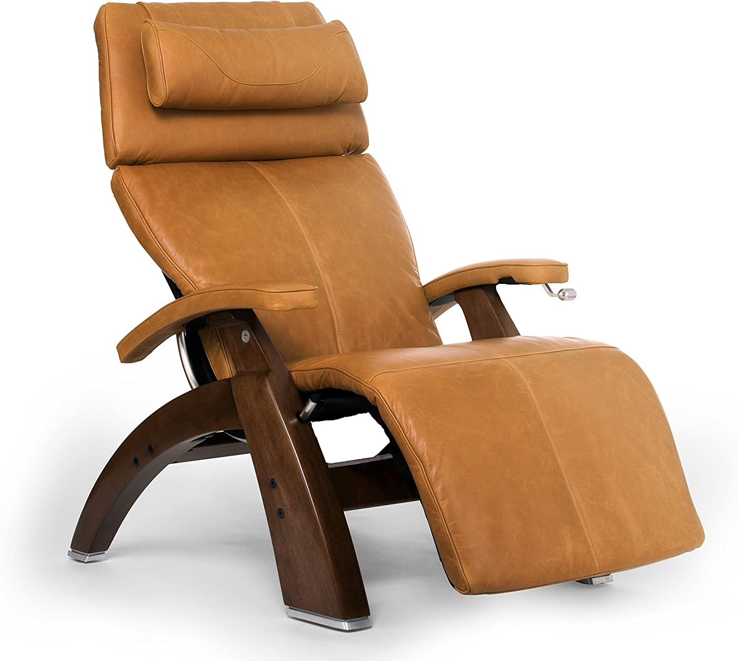 Human Touch Perfect Chair PC-420 Classic Plus Premium Full Grain Leather Zero Gravity Recliner, Sycamore