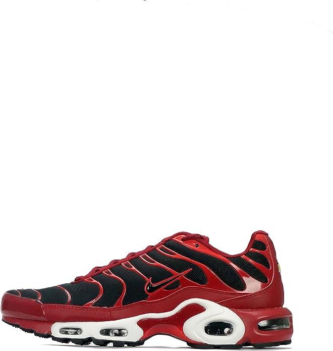 Nike Nike Air MAX Plus Tn1 Tuned - Zapatillas de Malla para Hombre Tough Red/Black/Chile Red, Color, Talla 44 EU: Amazon.es: Zapatos y complementos