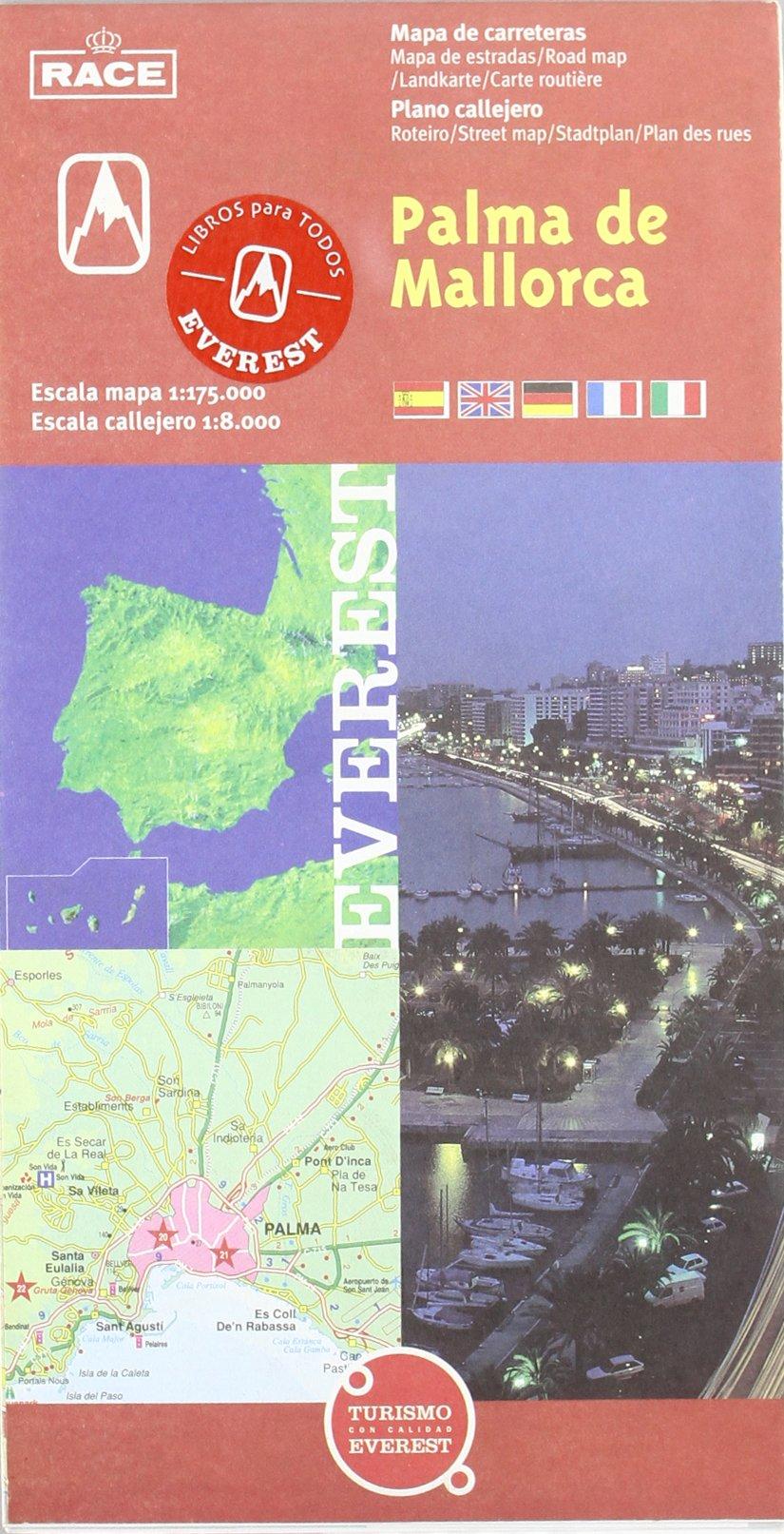 Palma de Mallorca. Plano callejero y mapa de carreteras: Plano callejero. Mapa de carreteras Planos callejeros / serie roja: Amazon.es: Cartografía Everest: Libros