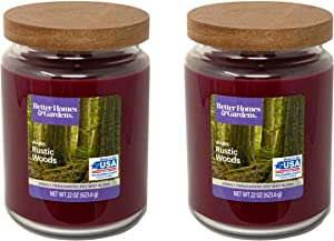 Better Homes Gardens 22oz Scented Candle, Warm Rustic Woods 2-Pack