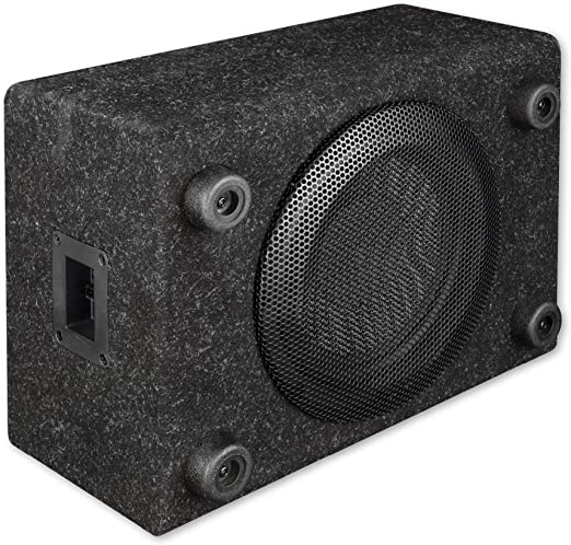 Axton Atb120qb Kompakter 20 Cm 8 Zoll Gehäuse Subwoofer 200 Watt Rms Kleine Bassreflex Bassbox Für