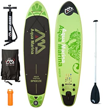 Aqua marina de remo stand Up paddle SUP Breeze de tabla de surf modelo 2016 + paddle board: Amazon.es: Deportes y aire libre