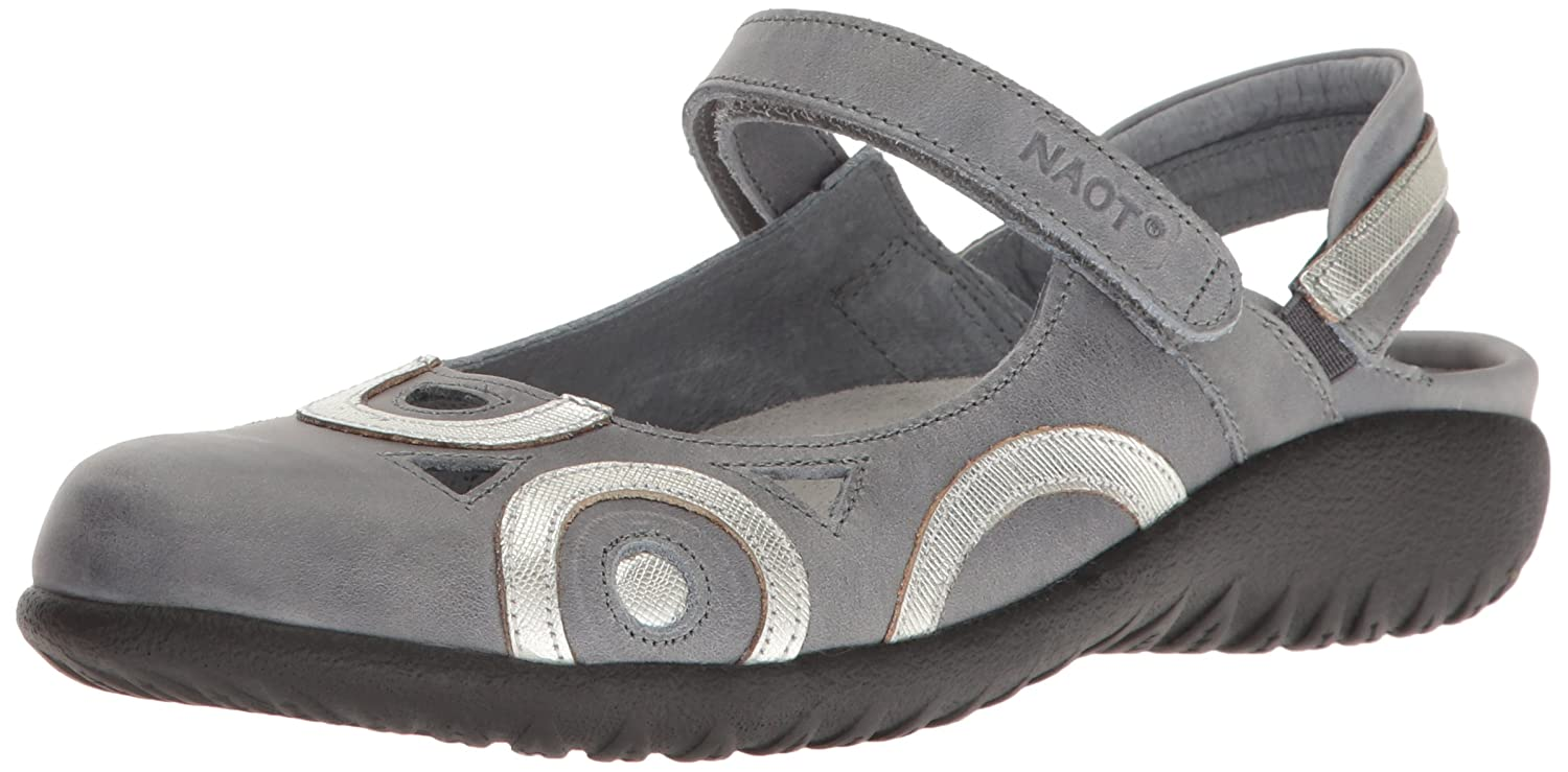 Naot Footwear Women's Rongo B01HT4QUQM 6 B(M) US|Vintage Slate Leather/Silver Luster Leather