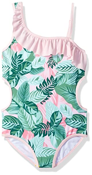 Amazon.com: Jantzen Girls Tropicana volantes traje de baño ...