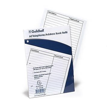 Goldline GA5/R - Hojas de relleno para agenda telefónica (A5 ...