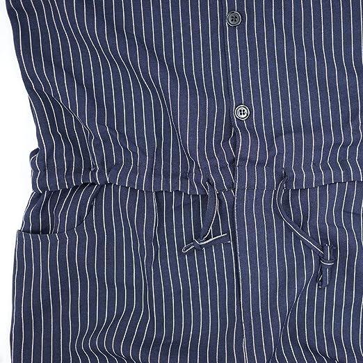 4c3f8912fbc6 YOUMU Men Hip-Hop Short Sleeve Striped Romper Suit Jumpsuit Playsuit  Overalls One Piece Black at Amazon Men s Clothing store