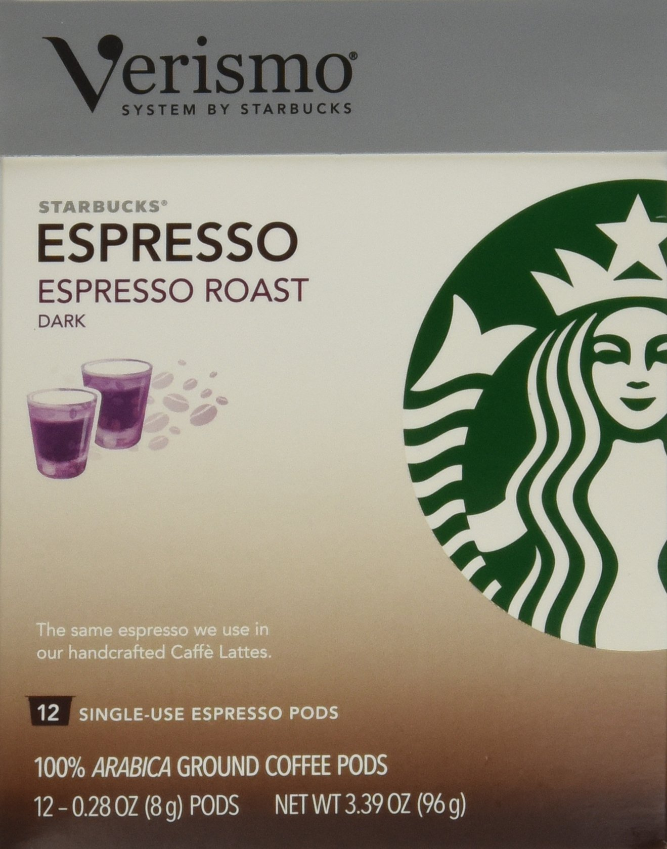 Starbucks Verismo Espresso Roast Espresso, 72 Pods