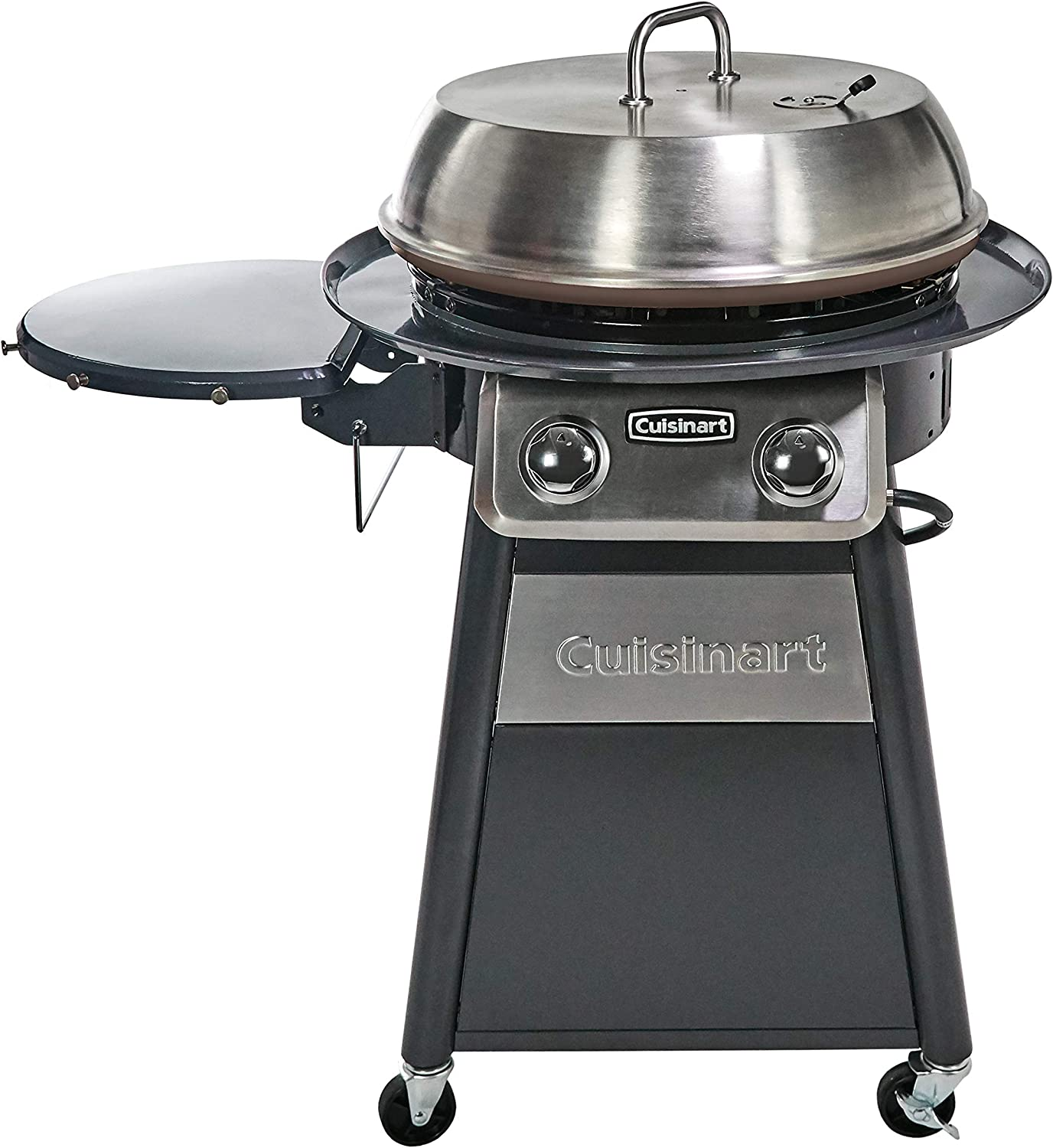 Cuisinart CGG-888 Grill Stainless Steel Lid 22-Inch Round Outdoor Flat Top Gas Griddle Cooking Center, 360 (Renewed)