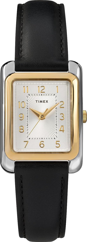 Timex Women s TW2T28900 Meriden Black Two-Tone Leather Strap Watch