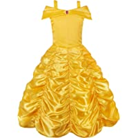 JerrisApparel Girls' Princess Belle Costumes Off Shoulder Party Princess Dress up
