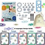 MC CHENMEI® Spirograph Deluxe Design Set jouets éducatifs Jouets de dessin Spirograph set Pour Adultes et Enfants