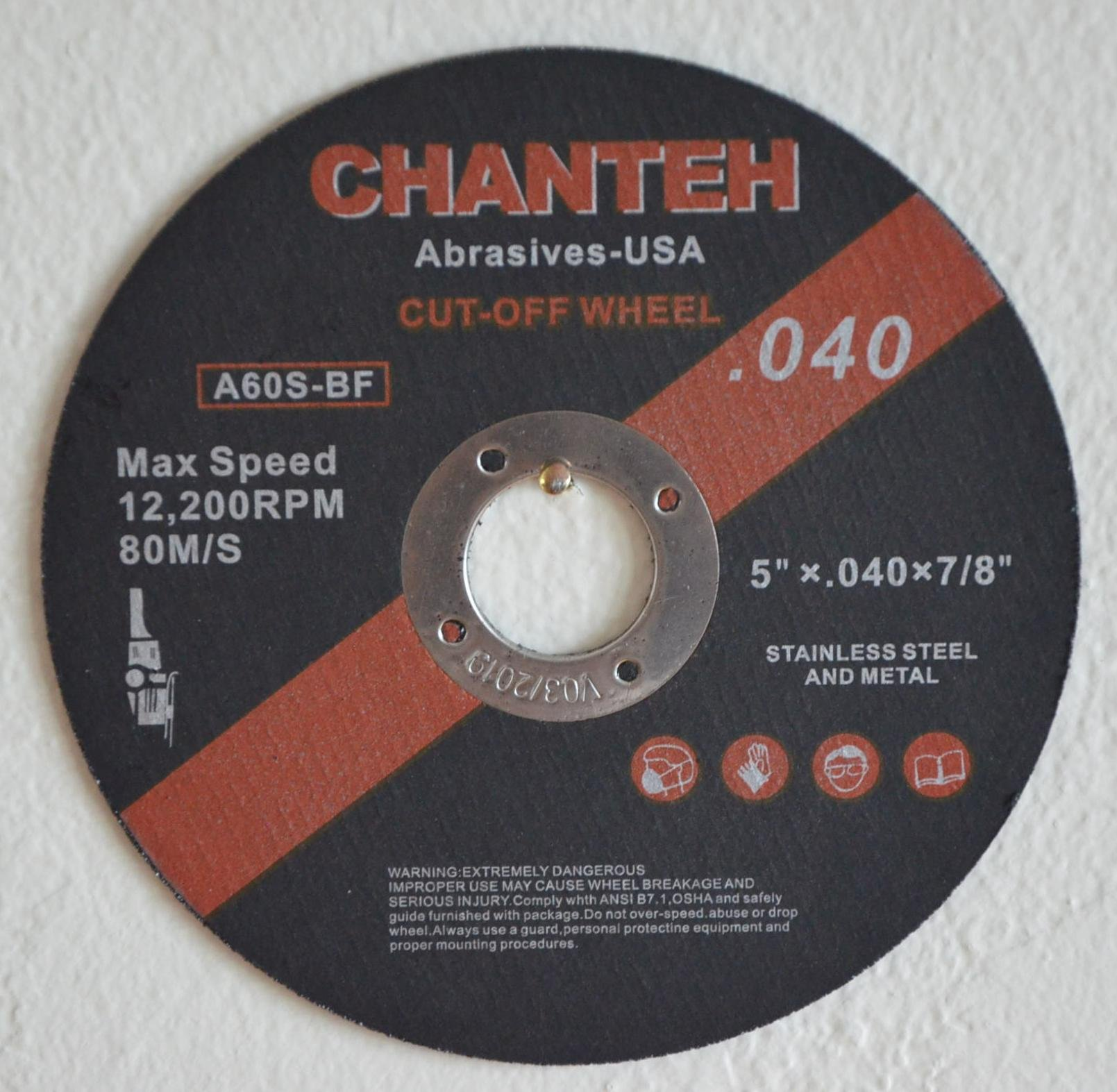 5'' x .040'' x 7/8'' CUT-OFF WHEELS for Stainless Steel &.Metal Cutting Disc ( 100 PACK )