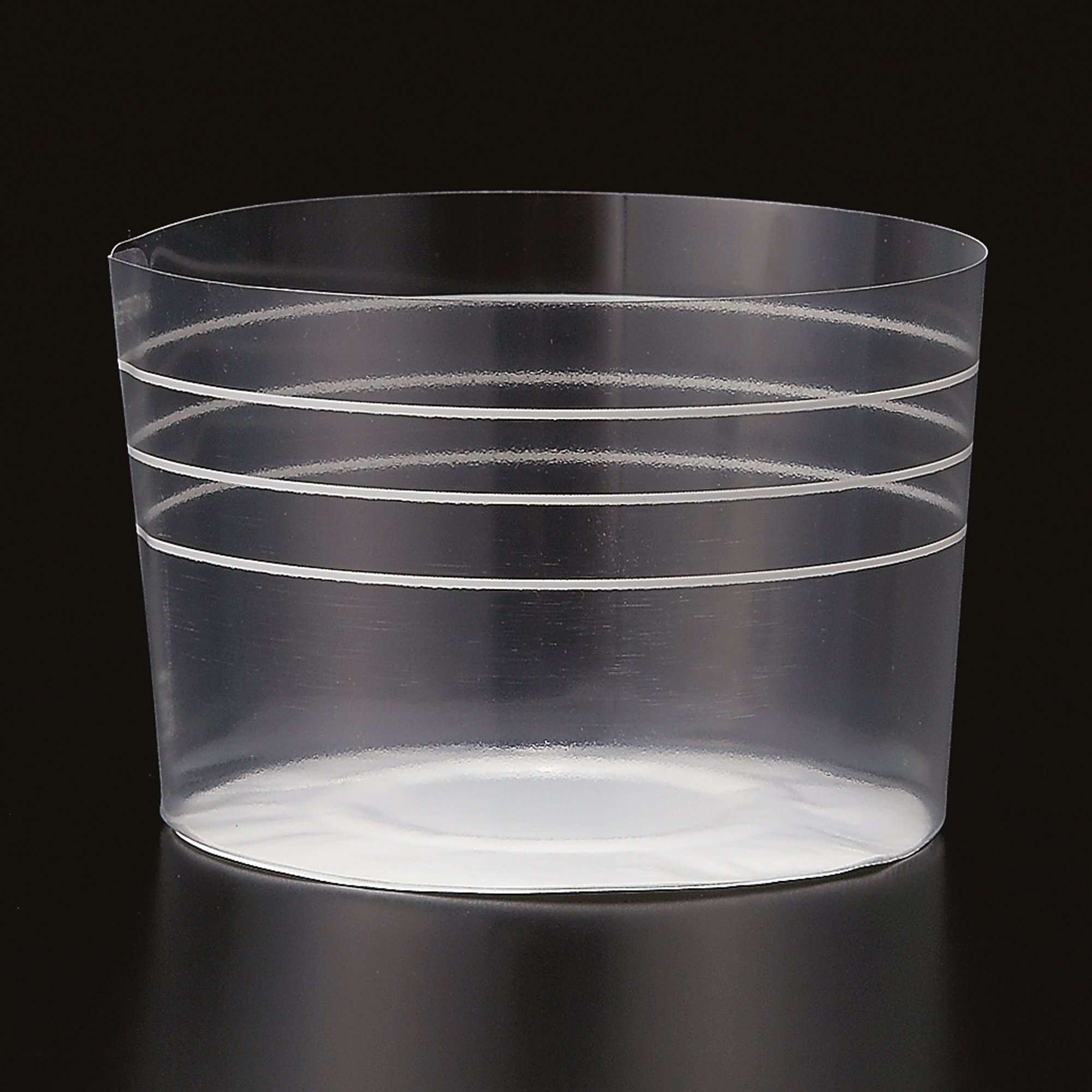 Welcome Home Brands Plastic Baking Cups, Clear Stripe Large, 2.6''d x 2''h, Case/1000