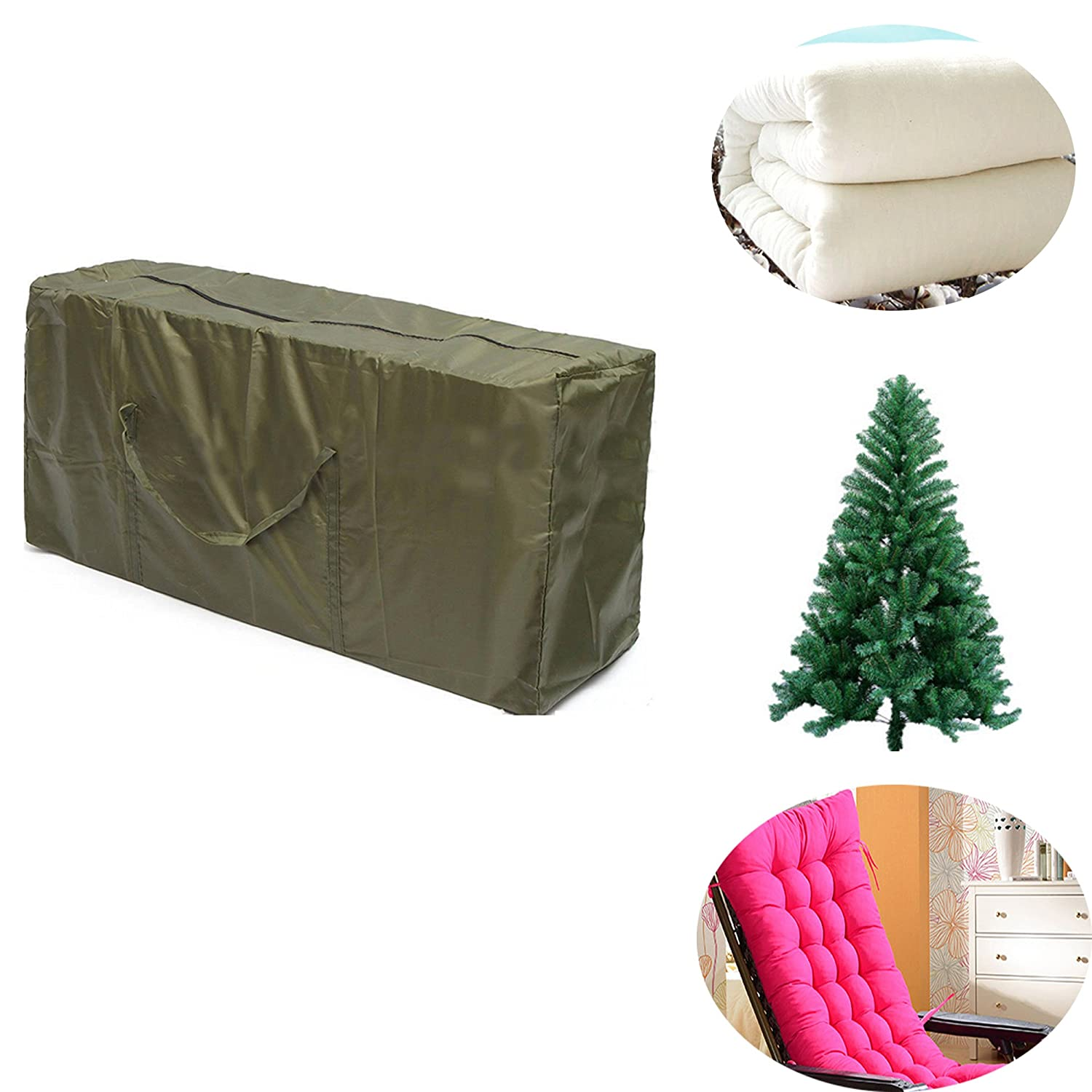 Camphelper Christmas Tree Storage Bag Heavy Duty Polyester Pouch Organizer