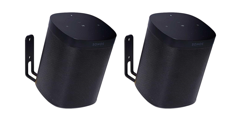 Vebos supporto a muro Sonos One nero 20 grad doppio - Alta qualità e un'esperienza ottimale in ogni camera - consente di appendere il vostro SONOS ONE esattamente dove vuoi - Due anni di garanzia