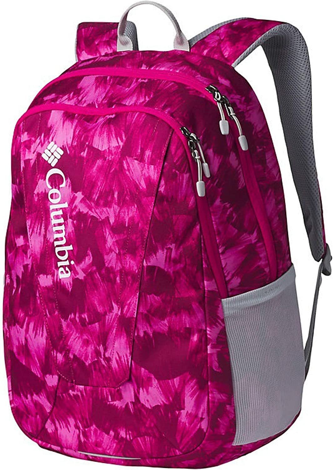 Columbia Unisex Tamolitch II Daypack Laptop School Student Backpack (Haute Pink Quartz Print/grey)