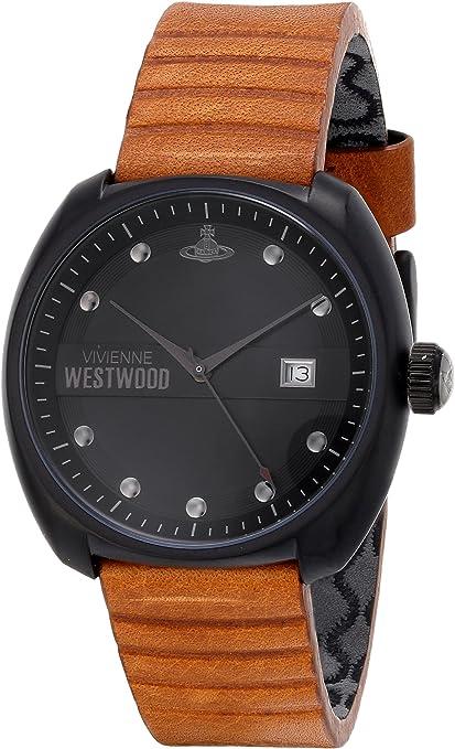 Vivienne Westwood VV080GNTN - Reloj analógico de Cuarzo para Hombre, Correa de Cuero