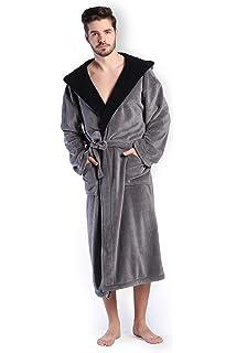 193daa7a042 COSMOZ® Peignoir Robe de Chambre Homme Haut de Gamme en Polaire Velours