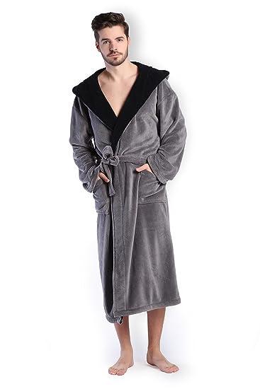 1bafc9afc5638 COSMOZ® Peignoir/Robe de Chambre Homme Haut de Gamme en Polaire Velours