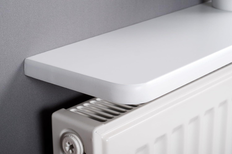 White Rounded Radiator Shelf 900x150x18mm (36x6 inc)