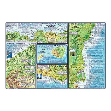 Amazon Com Kauai Adventure Guide Outdoor Recreation Topographic