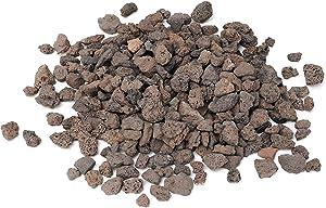 Skyflame Black Natural Stones Lava Rock Granules for Gas Fire Pit | Fireplace | Gas Log Set | BBQ Grills | Garden Landscaping Decoration | Cultivation of Potted Plants | Indoor Outdoor Use, 5-lb Bag