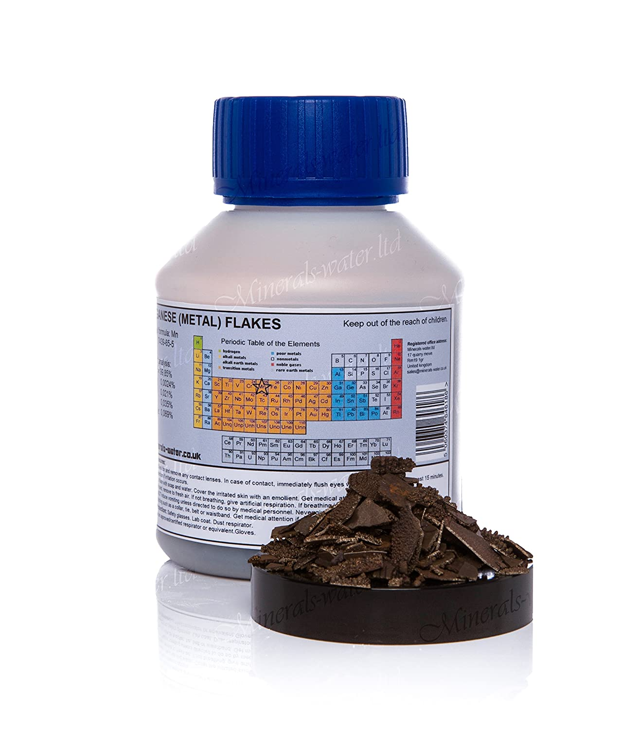 500g Manganese metal flakes ★ electrolytic Mn 99.85/%★Make sure to checkout with Minerals-water.ltd to get whats on the picture