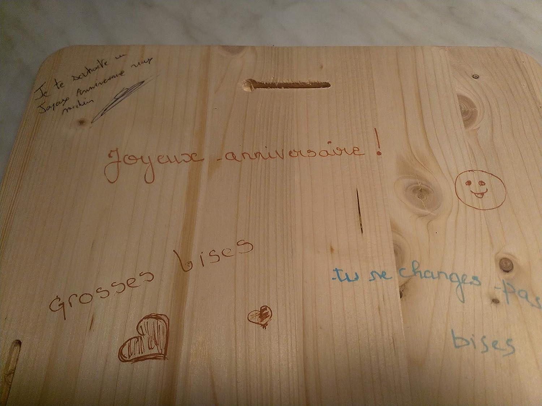 Rutabaga-cie Tableau Bois Born to be a Geek