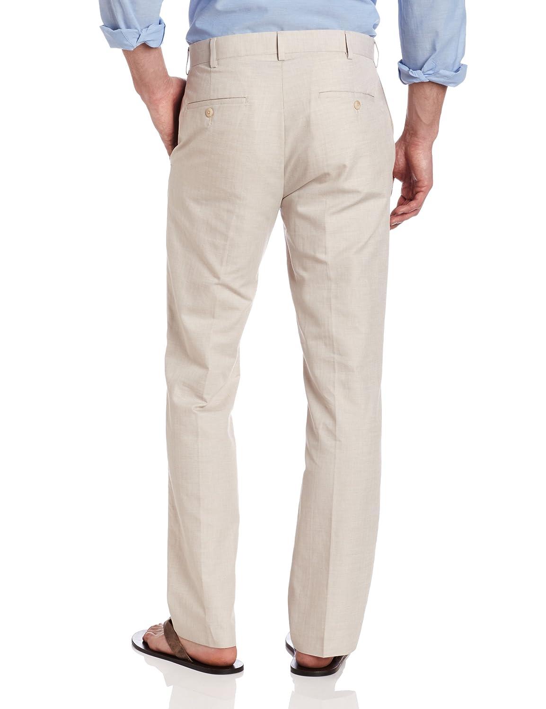 efe213b1 Cubavera Men's Linen-Cotton Herringbone-Textured Pant: Amazon.in: Clothing  & Accessories