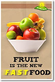 amazon com healthy snacks classroom health poster office products