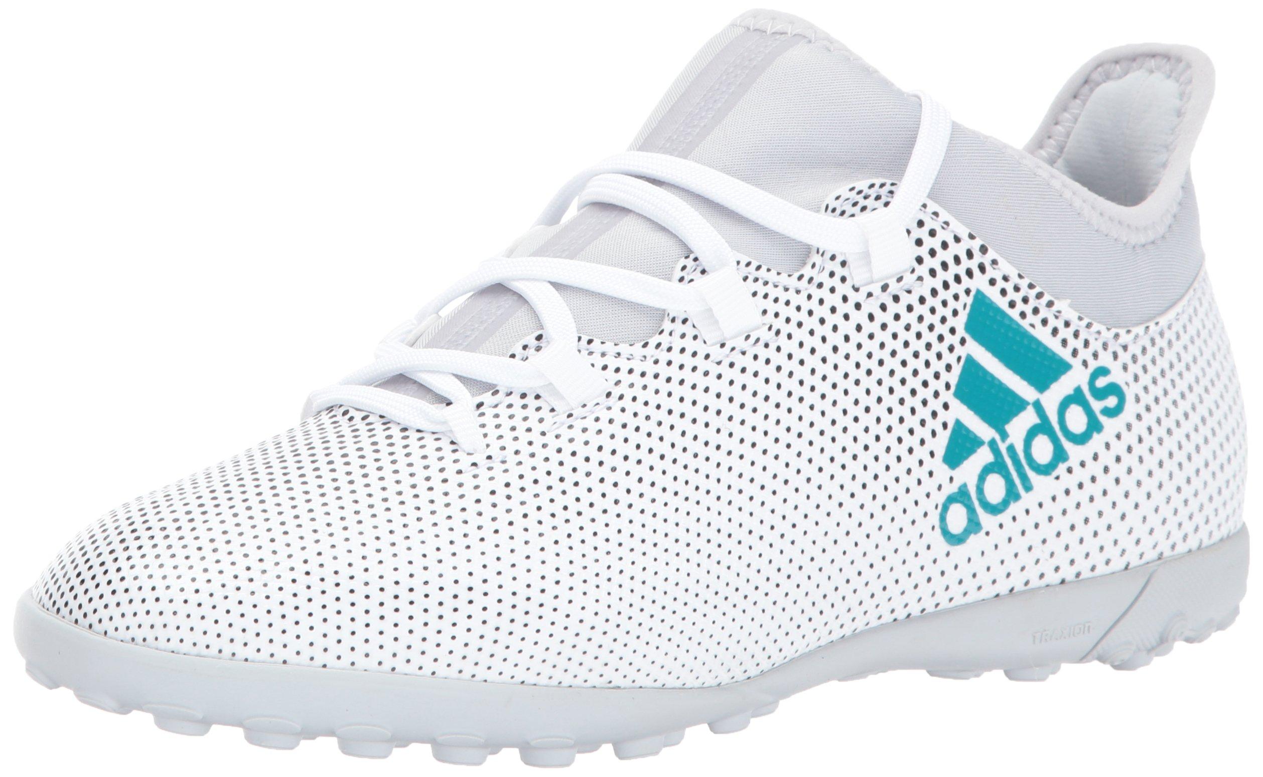 adidas Boys' X Tango 17.3 TF J Soccer Shoe, WhiteEnergy BlueBlack, 3.5 Medium US Little Kid